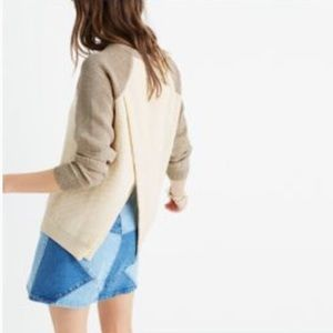 Madewell Province Cross Back Pullover Sweater Knit
